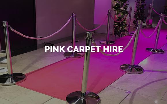 Pink carpet hire in London, Kent, Surrey, Sussex & Essex.