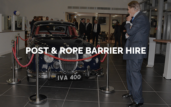 Stanchion post and rope barrier hire London, Kent, Surrey, Sussex & Essex