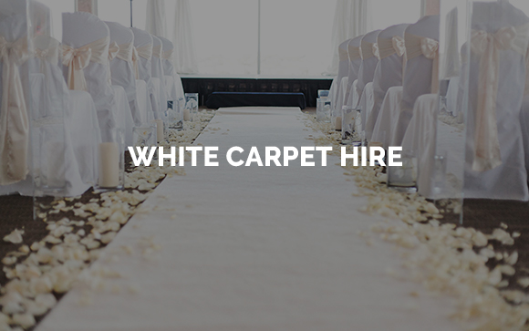 White carpet aisle runner hire in Kent, Surrey, Sussex, London & Essex
