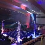 Lighting show for boxing event