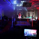 Sports hall transformation for boxing show