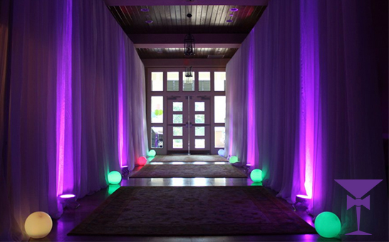 Luxury Draping, LED Spheres & Uplighting