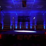 Uplighting at boxing show