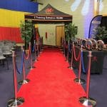 Red carpet entrance for boxing show