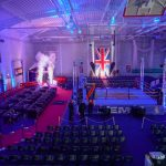 Boxing show production with special effects