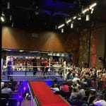 VIP walkway at Bromley boxing event