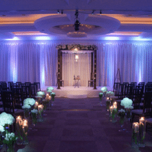 White venue uplighting Kent, Surrey, Sussex & London