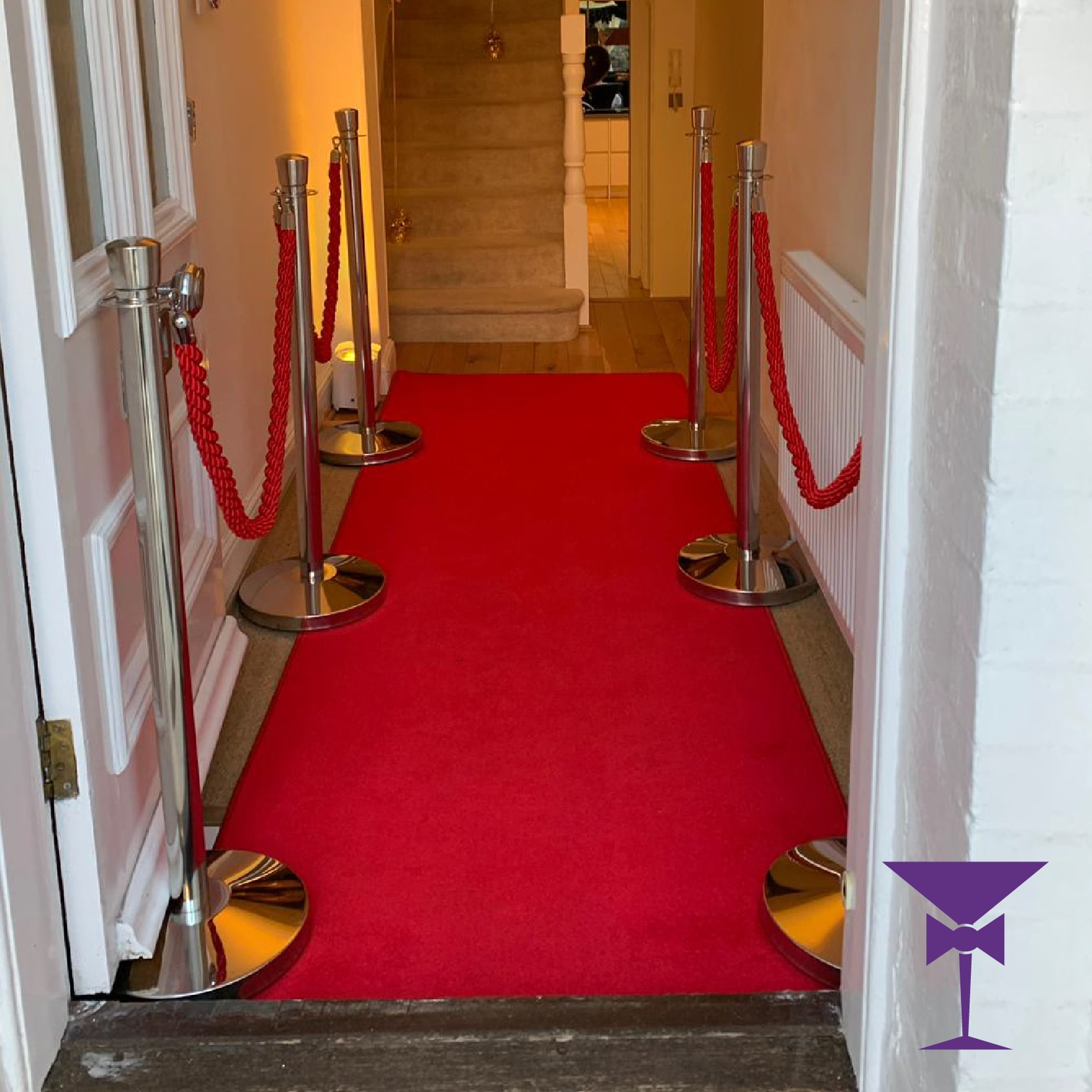 3 Metre Red Carpet Hire Package
