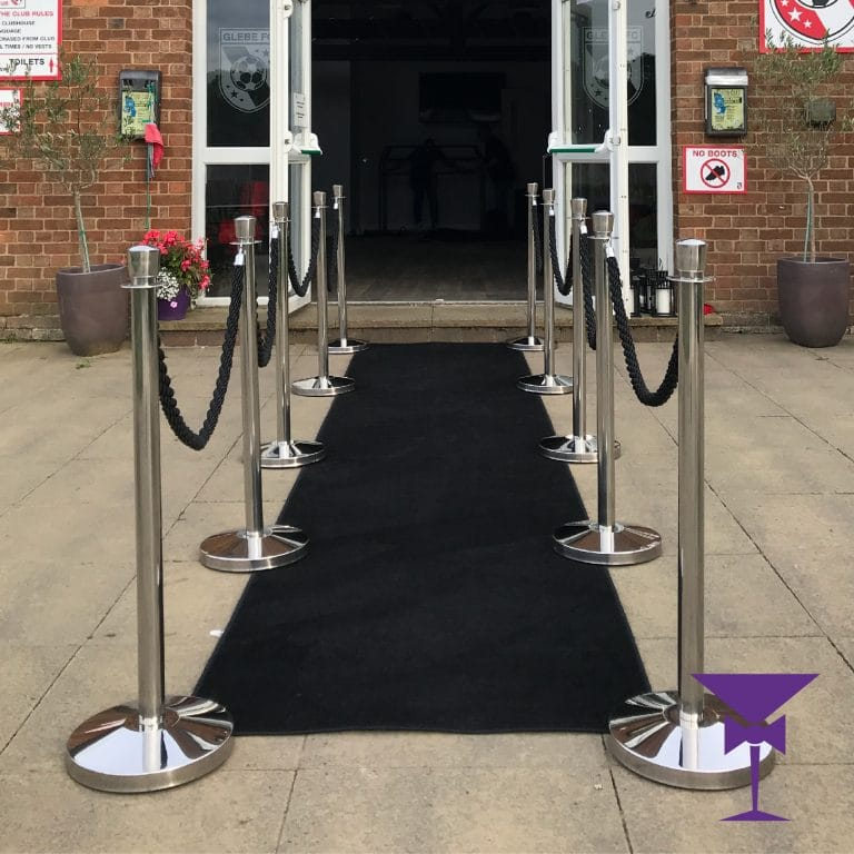 Black Carpet Hire With Posts & Ropes