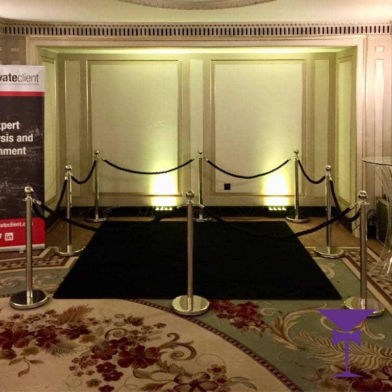 Square Black Carpet Package With Posts & Ropes