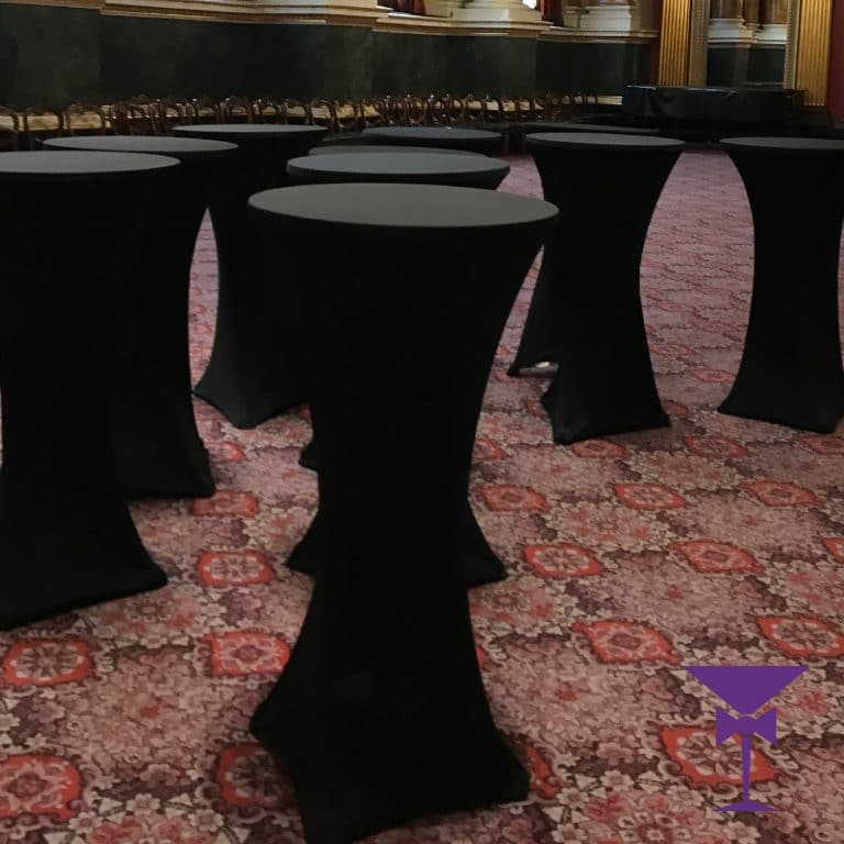 Black Poseur Table Hire London City
