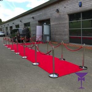 Custom L Shaped Red Carpet