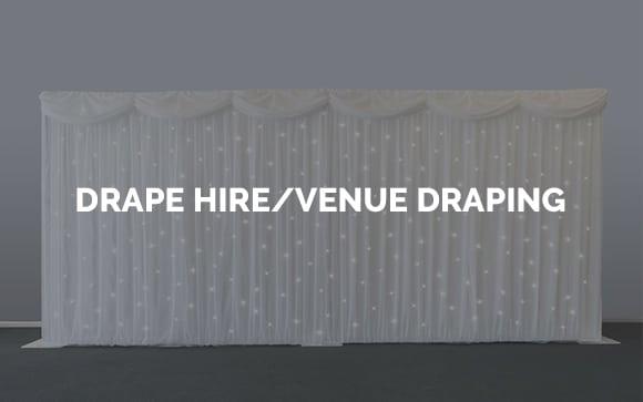 Drape hire & Venue Wall Draping