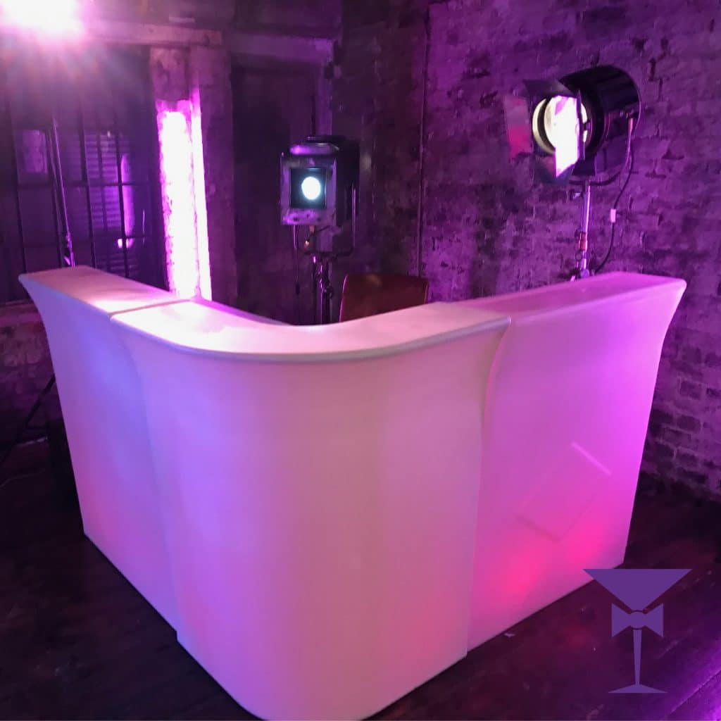 Full LED Corner Bar Hire - Illuminated Mobile Rental