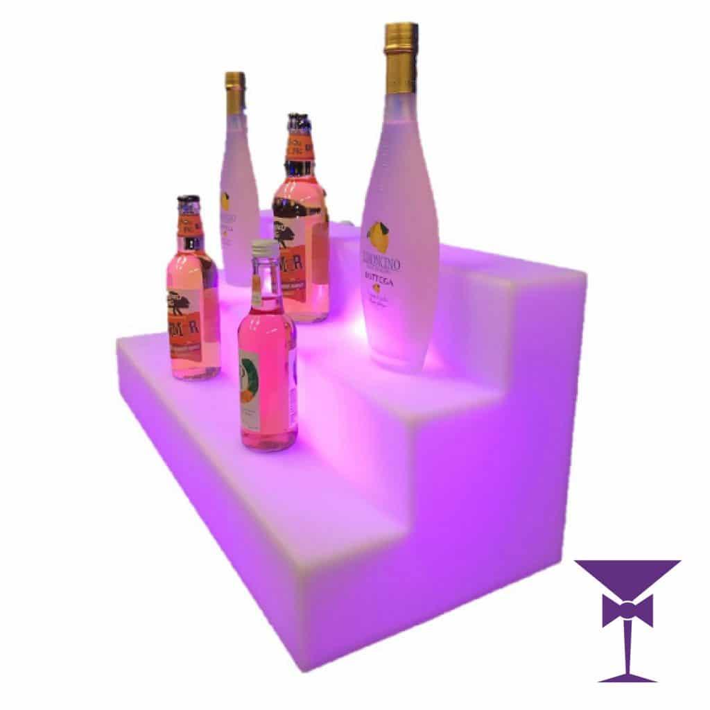LED Bar Shelf For Drinks Hire