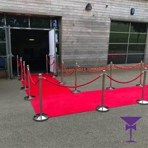 L Shaped Red Carpet Hire London, Kent, Surrey, Sussex & Essex