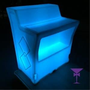 LED Bar Hire - Straight Illuminated Bar