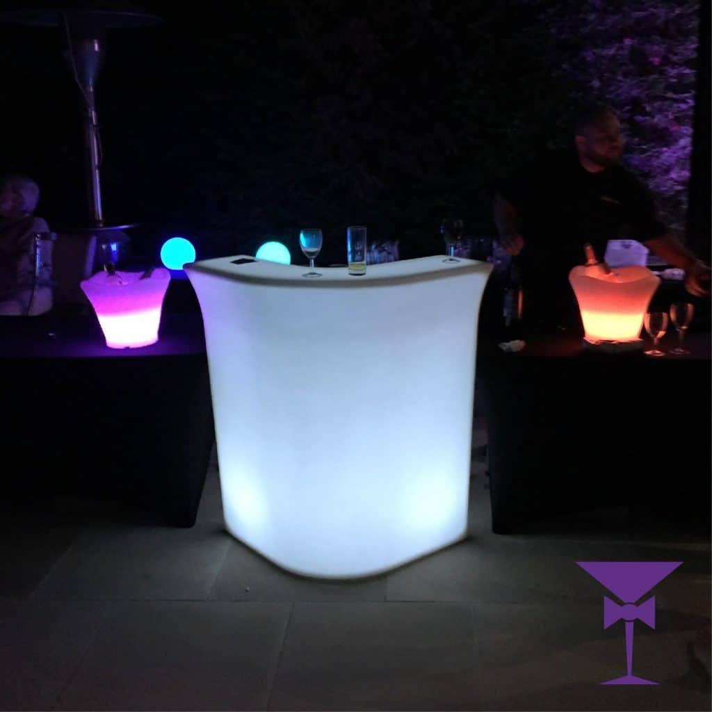 LED Corner Bar Section Hire