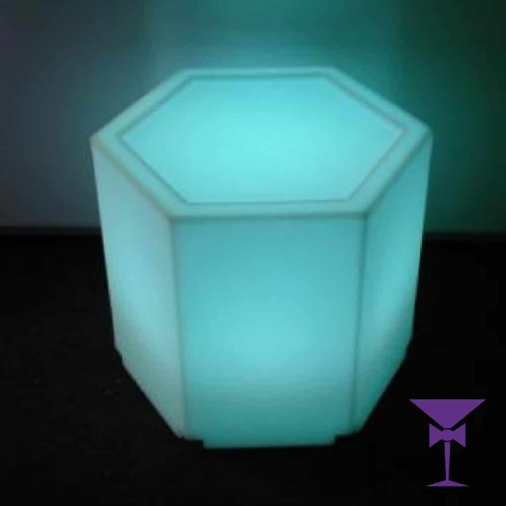 LED Hexaganol Table Hire London, Kent, Surrey, Sussex & Essex