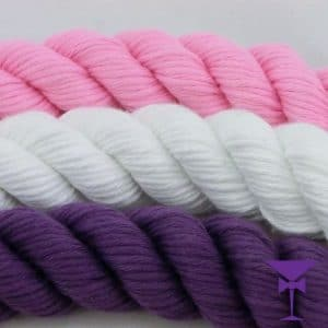 Pink White and Purple stanchion rope hire