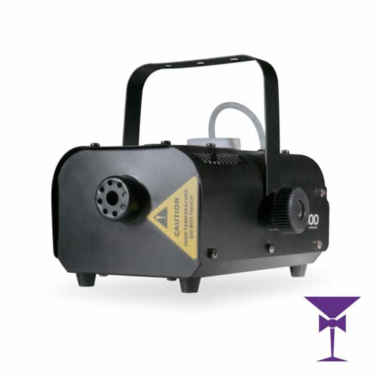 Horizontal compact smoke machine hire with wired remote