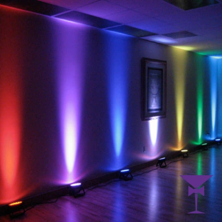 Wired LED Uplighter Hire & Mood Lighting in Surrey
