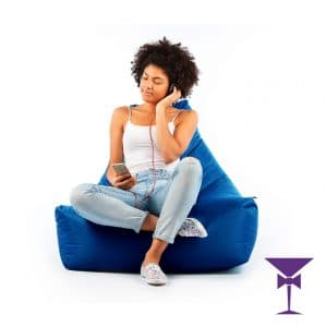Comfortable and stylish bean bag hire