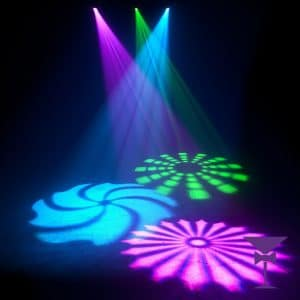 Fantastic gobo effects from our party lighting