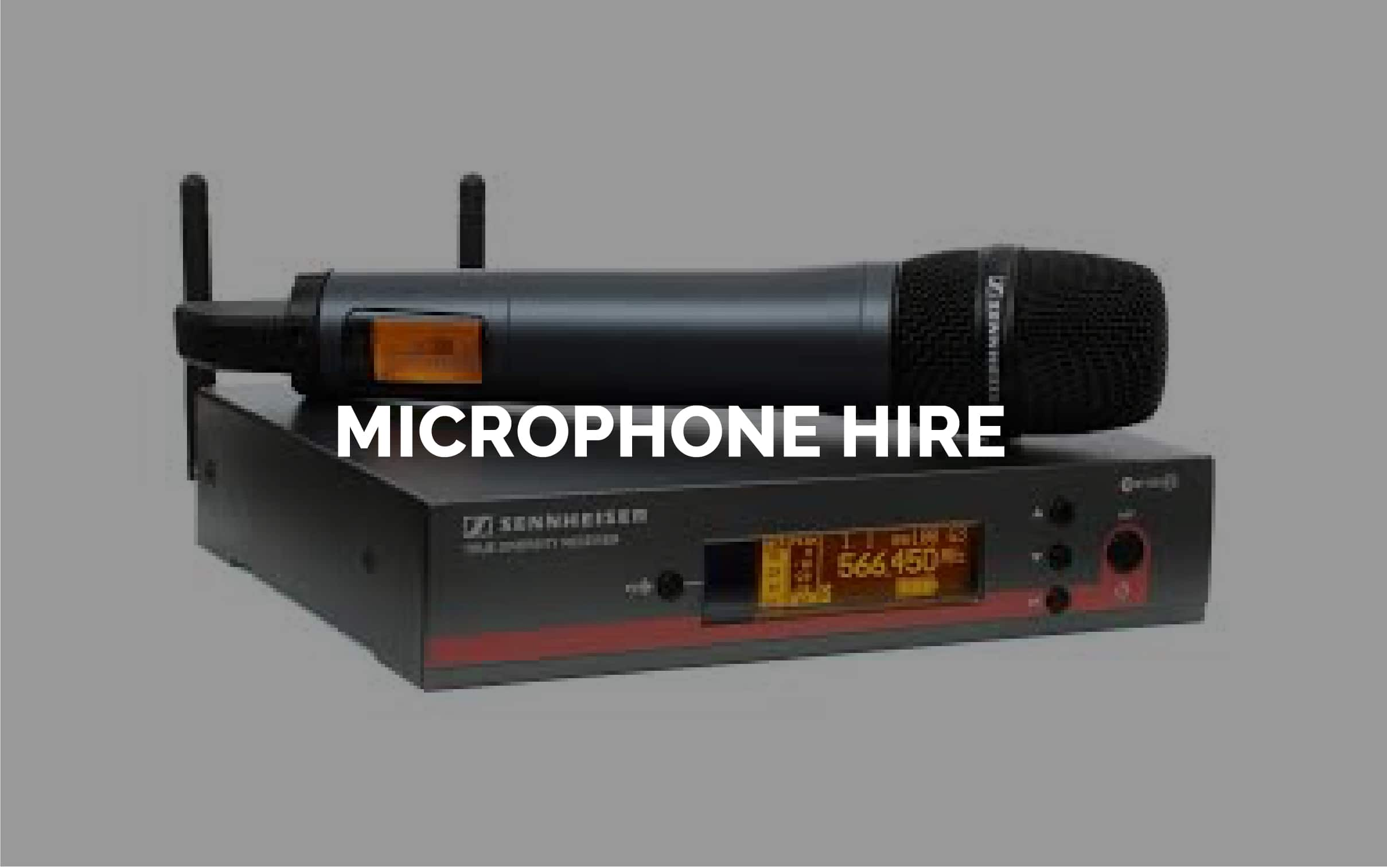Microphone Hire London, Kent, Surrey, Sussex