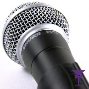 Close up of our Sure SM58 wired Microphones