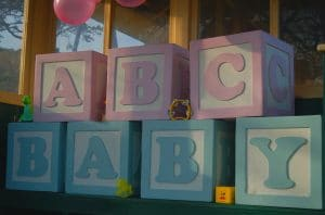 Giant baby blocks for hire in Kent