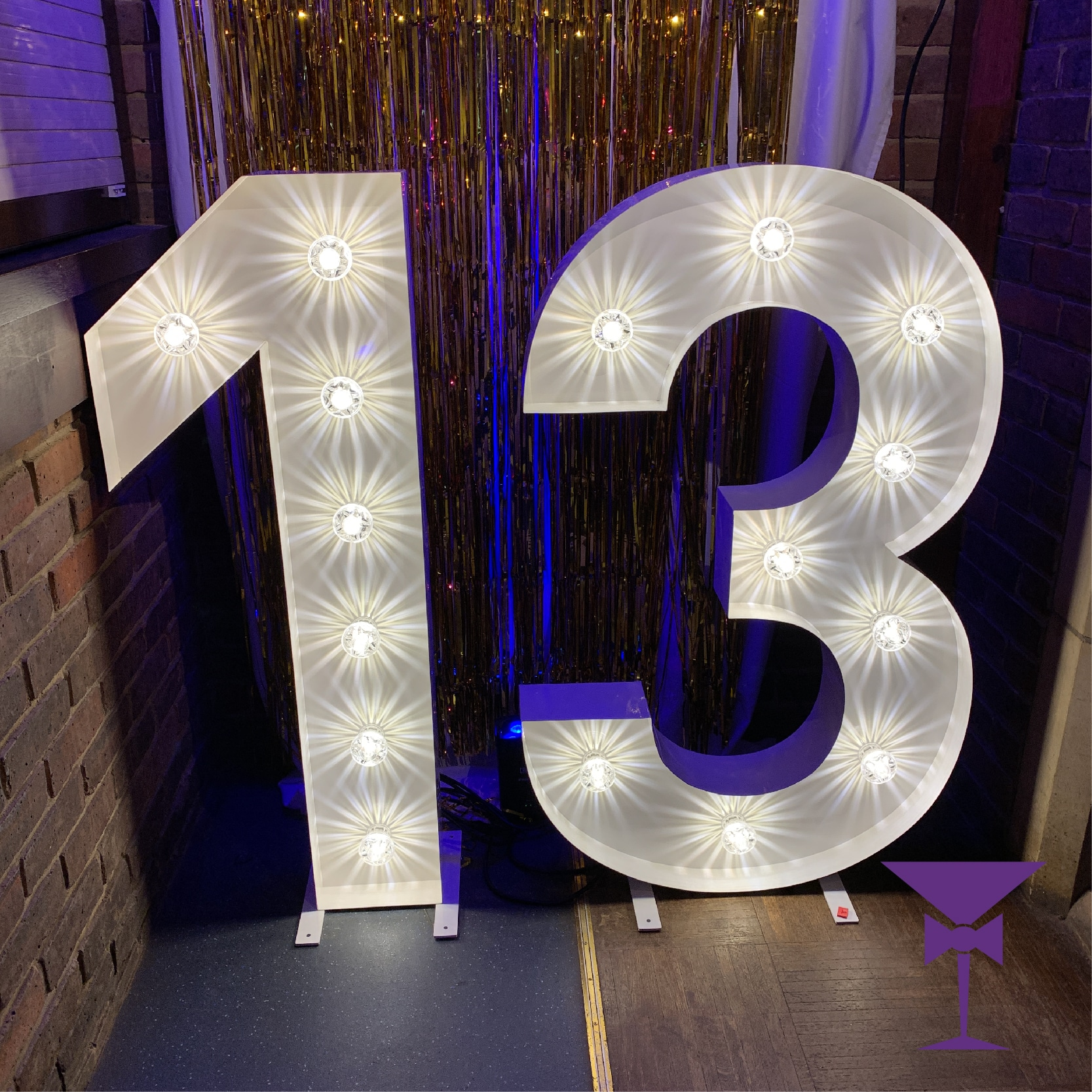Light up Number 13 for hire
