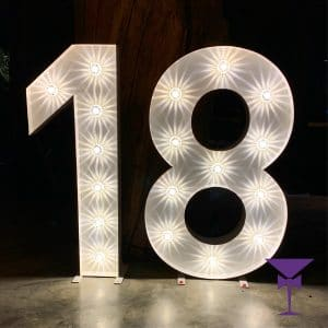 LED Light up numbers in Surrey, Kent & Sussex