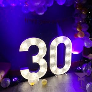 Illuminated Numbers for rent in Sussex