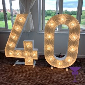 Wow your guests with light up numbers for your party