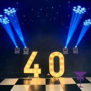 Light Up numbers for hire in Kent