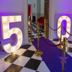 Illuminated LED numbers for your next event in Sussex