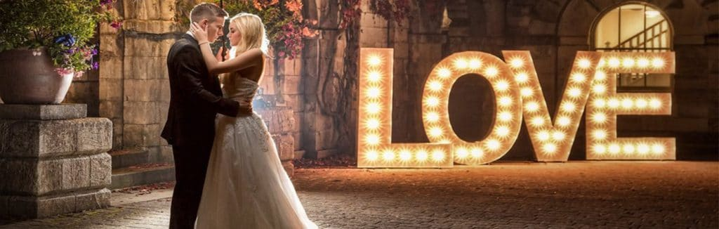 Light up Love letter Hire in Kent, Surrey & Sussex