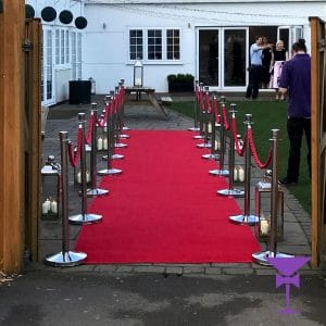 10 Metre Red Carpet Hire in Guildford, Leatherhead & Surrey