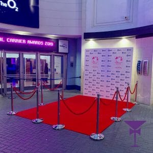 Photo backdrop red carpet Surrey