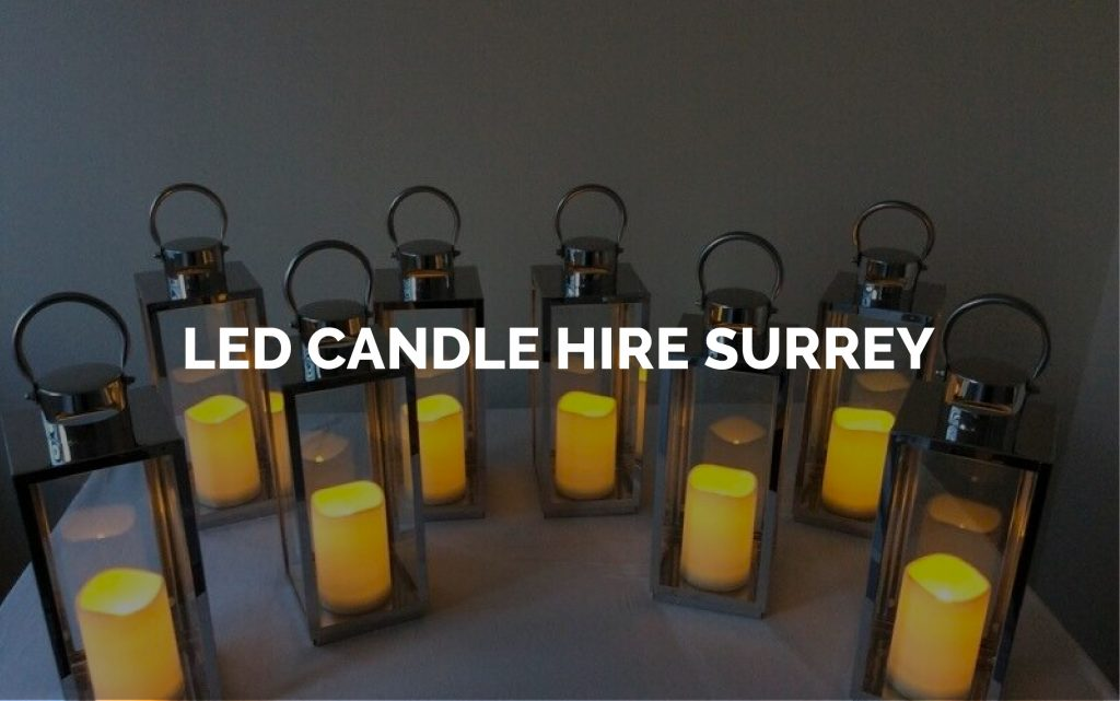 LED Candle Hire - Lighting Hire Surrey
