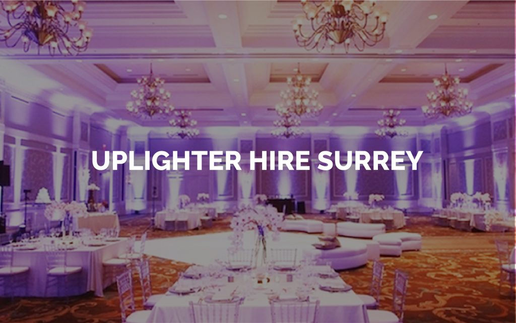 Uplighter Hire Surrey - Venue Uplighting for Rent