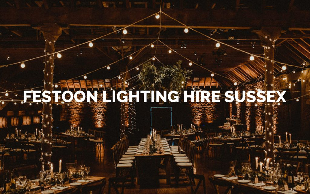 Festoon lighting hire in Sussex