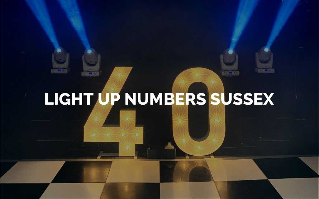 Light Up Number Hire Sussex