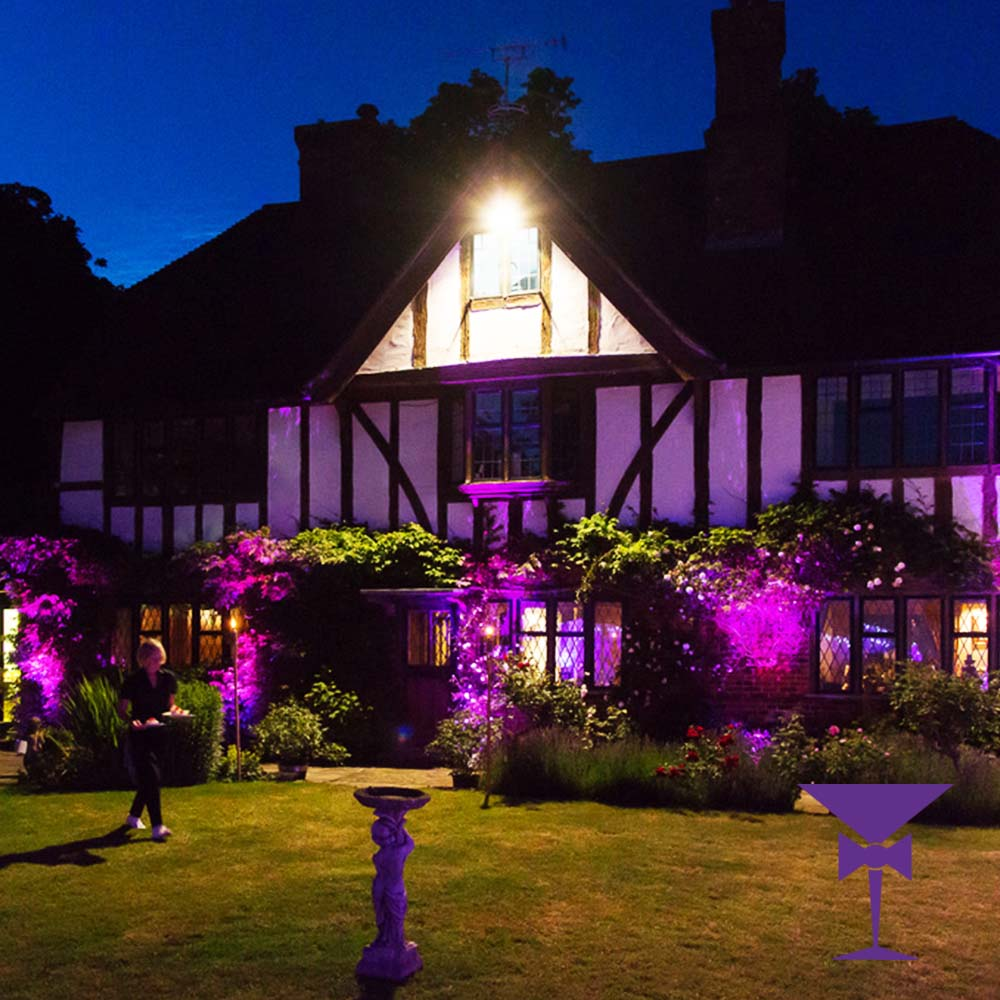 Outdoor uplighting to compliment your outdoor cinema package