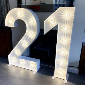 LED Light up 21 Numbers