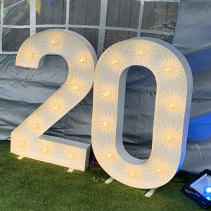 Light up 20 number hire